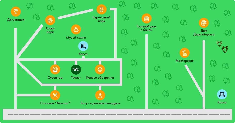 """Карта развлекательного парка для детей """"ПИК701"""""""