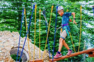 Веревочный парк фото