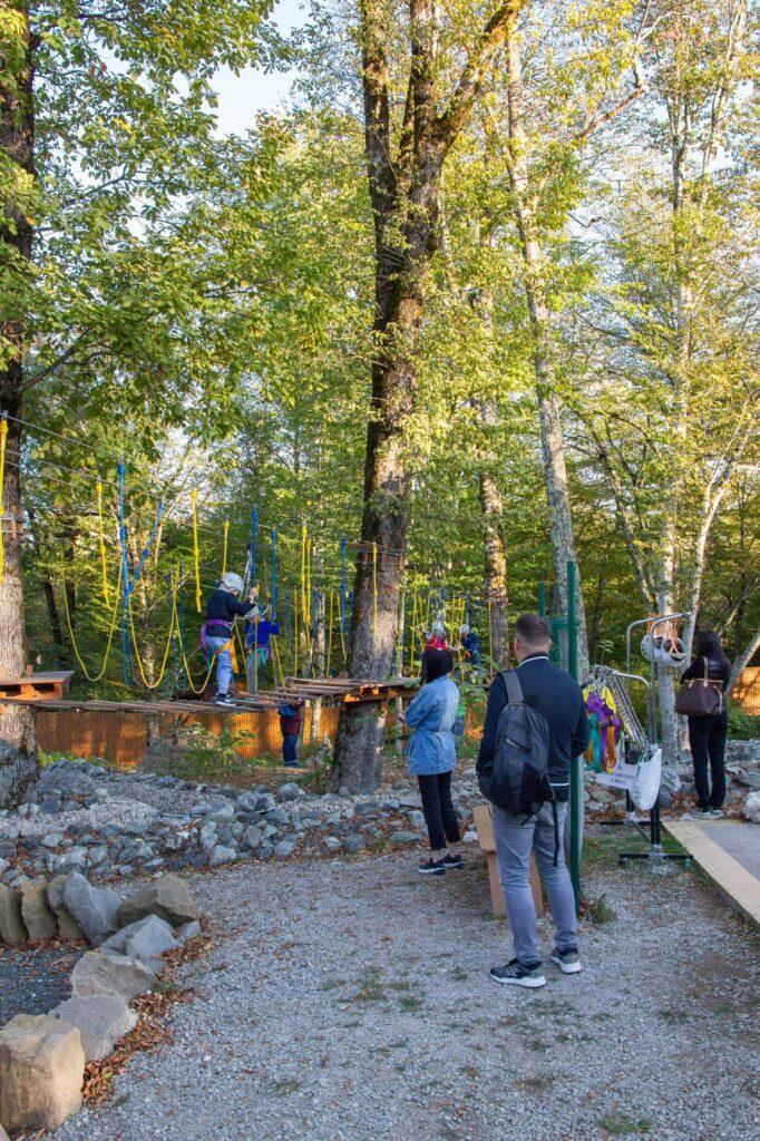 Веревочный парк переходит на осенний режим работы